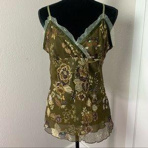 Vintage Uniform John Paul Richard Silk floral top